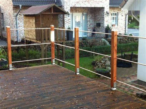 terrassengeländer holz kaufen terrassengel 228 nder einfach und individuell