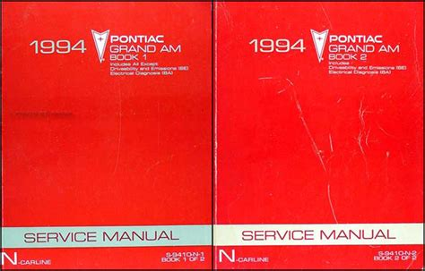 car repair manual download 1990 pontiac grand am instrument cluster 1994 pontiac grand am repair shop manual original set