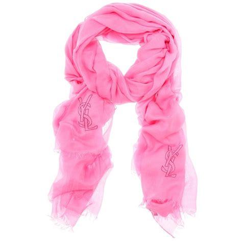 Pashmina Zalia ysl logo stitched scarf bags accessories