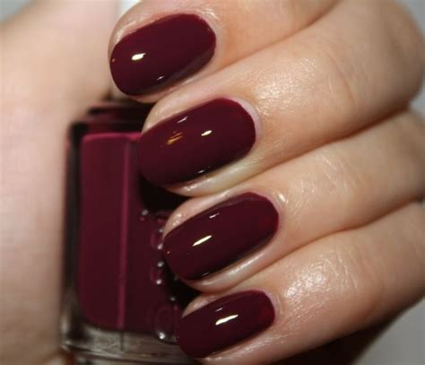 burgundy nail polish colors essie bordeaux nails pinterest in love nailart and