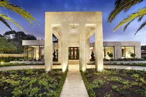 Luxury House Design by Luxury Melbourne Home With Pillared Entry And Interior
