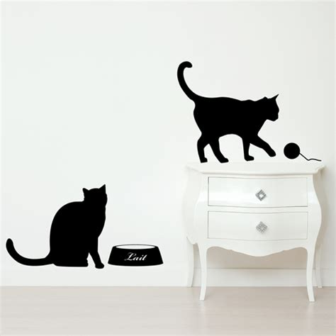 cat wall stickers wall stickers for cat and bird digsdigs