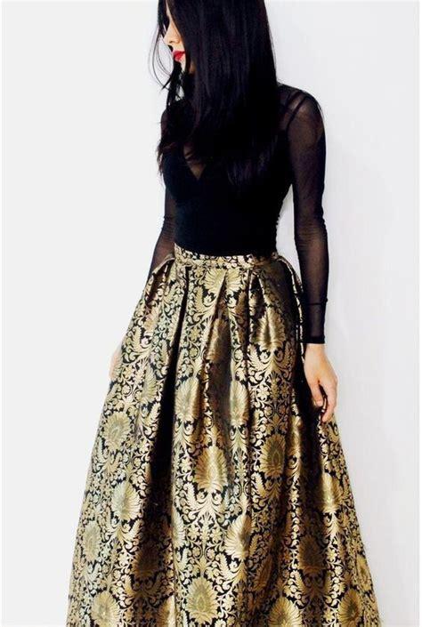 black brocade maxi skirt indian dresses fashion indian