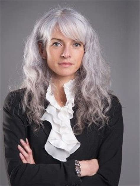 bangs and gray hair laurye bailly gray hair pinterest beautiful long