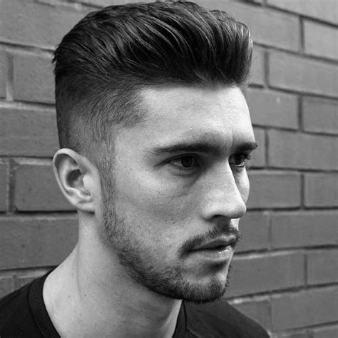 blended mens haircut slicked back hair for men 75 classic legacy cuts