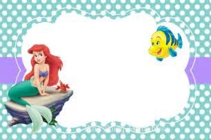 printable little mermaid invitation invitations online