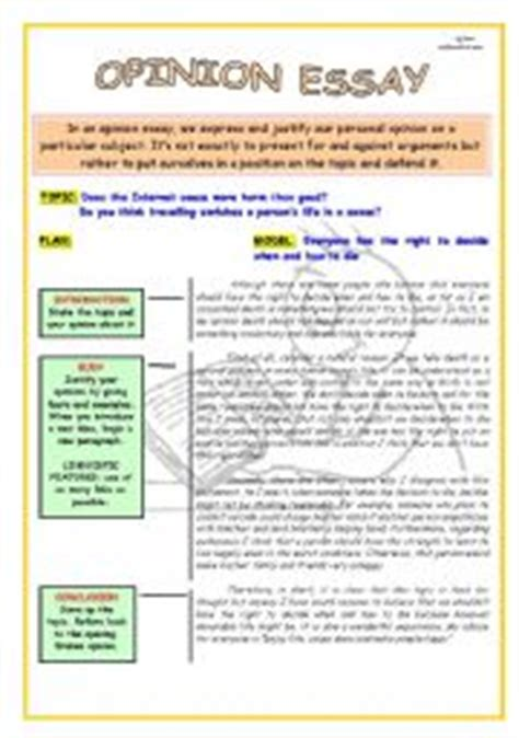 layout opinion essay english worksheet writing skills opinion essay