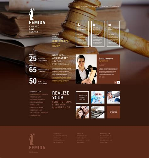 website templates for law firms law firm responsive website template 52959