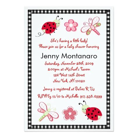 Shops That Sell Baby Shower Stuff by Ladybug Dragonfly Flower Baby Shower Invitation 5 Quot X 7