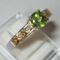 Peridot In Silver Ring With Memo jual perhiasan dan batu permata asli kualitas pilihan