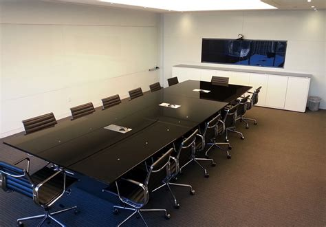 Quartz Conference Table Contemporary Arnold Contract