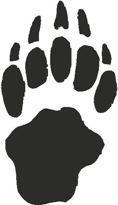 badger paw print tracks decals  stickers  home