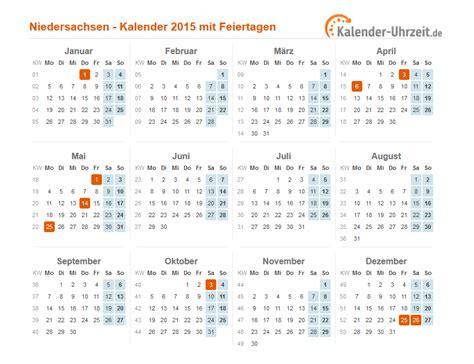 Kalender Mit Mondphasen 2015 3711 by Feiertage 2015 Niedersachsen Kalender