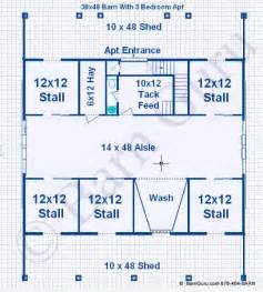 Barn Plans With Living Quarters Floor Plans by Barn Plans With Living Quarters 5 Stalls 3 Bedrooms