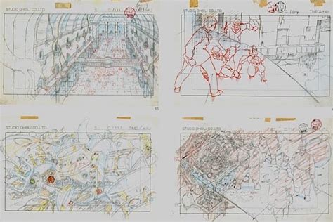 film production ghibli film castle in the sky layout design kidnapping