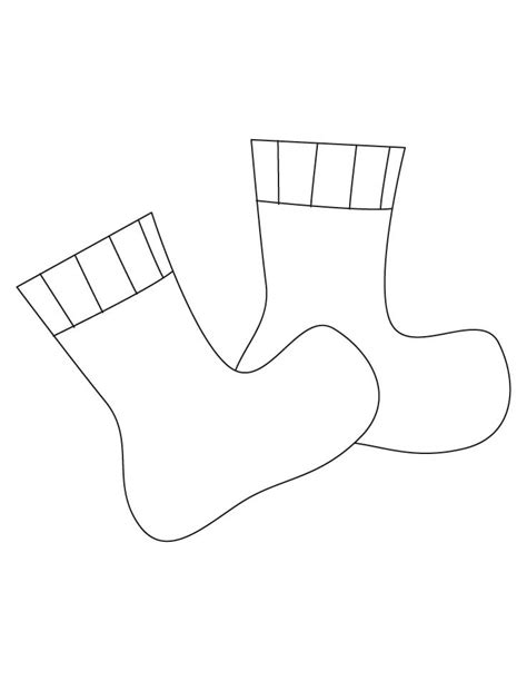 sock colouring socks coloring pages free socks coloring pages