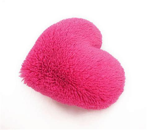 Fluffy Pink Pillow fluffy pink shaped decorative pillow