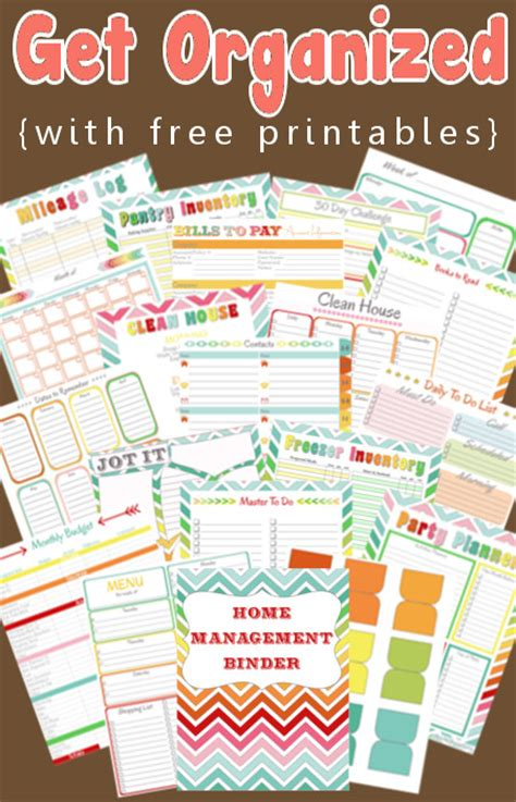free organising printables single on a mission