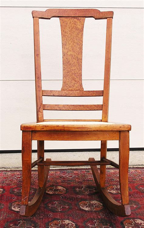 Antique Maple Rocking Chair by T Back Bird S Eye Maple Rocking Chair C 1900 1915 For
