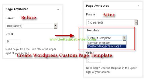 how to create wordpress custom page template
