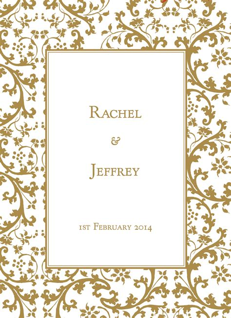 Wedding Card Design Clipart