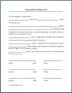 simple rental agreement template renters lease agreement real estate forms forms