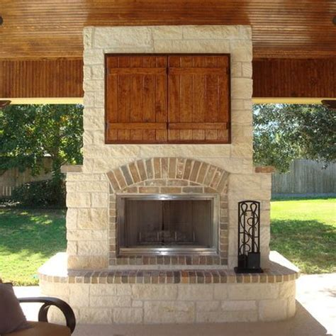 backyard tv outdoor fireplace tv design ideas pictures remodel and decor page 5 for the home