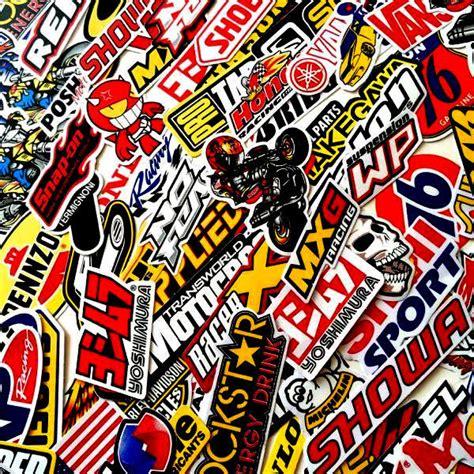 Yamaha Helm Sticker by 100 Mixed Random Stickers Motocross Motorcycle Car Atv