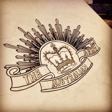 anzac tattoo designs australia anzac badge drawing by roney147 ideas