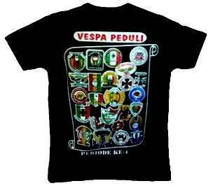 Kaos Vespa V 01 vespa peduli saur on the road 2011 priode 4
