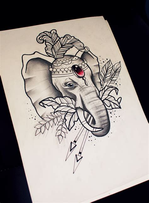 dlue eyed circus elephant with red gem decoration keeping