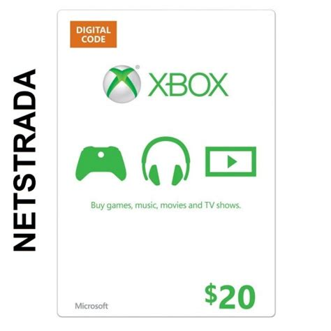 Xbox 20 Dollar Gift Card - xbox 20 live gift card microsoft points ms code emailed worldwide 20