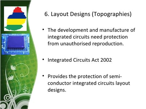 layout design integrated circuit act 2000 intellectual property rights mauritian legislation