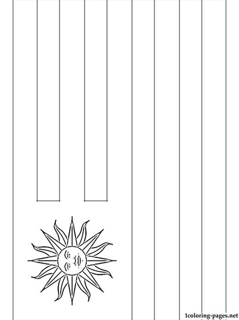 uruguay flag coloring page coloring pages