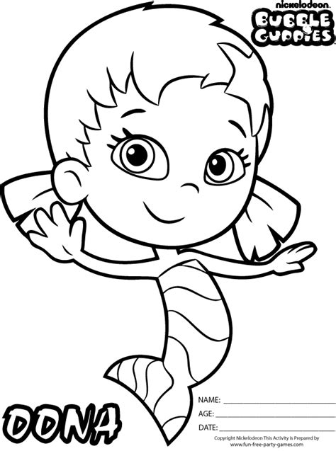 bubble guppies coloring pages games free coloring pages of deema bubble guppies