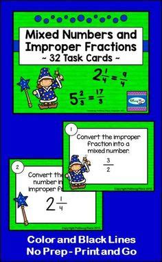 printable mixed number cards 1000 images about fractions on pinterest equivalent