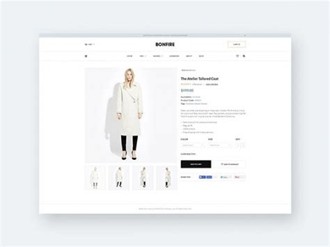 Bonfire Free Ecommerce Product Page Template Freebiesbug Product Page Design Template