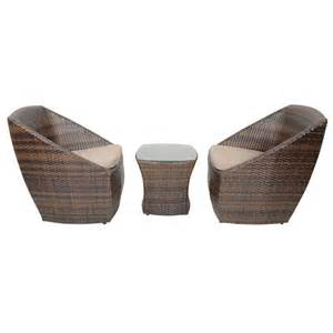 Synthetic Wicker Outdoor Furniture by Brown Lazio Rattan Wicker Garden Bistro Coffee Table Set