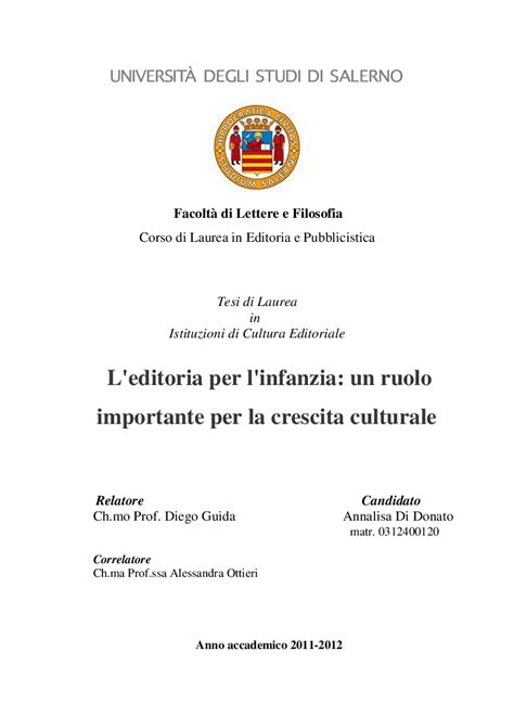 tesi di laurea lettere facolt 224 di lettere e filosofia corso di laurea in editoria