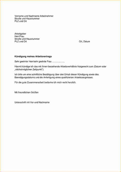 Musterbrief K Ndigung Arbeitsvertrag Arbeitnehmer arbeitgeber k 252 ndigung vorlage vorlagen komplett