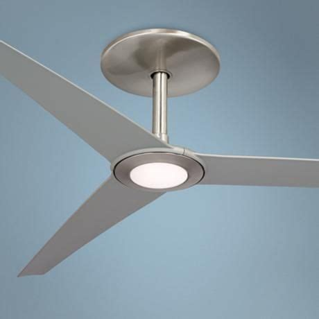 Ceiling Fan Oxone brushed nickel led and brushed nickel ceiling fan on