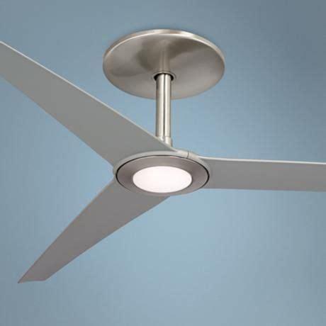 60 ozone led white ceiling fan brushed nickel led and brushed nickel ceiling fan on