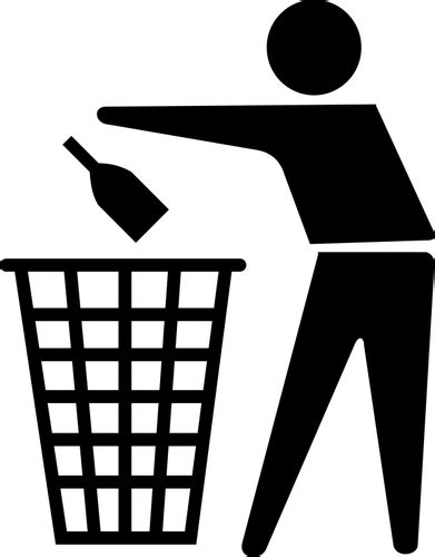 Papierkorb-Symbol | Public Domain Vektoren