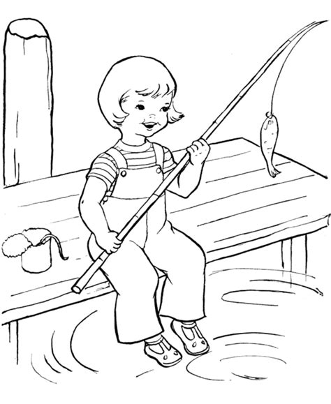 fishing coloring pages happy fishing summer coloring pages coloring page