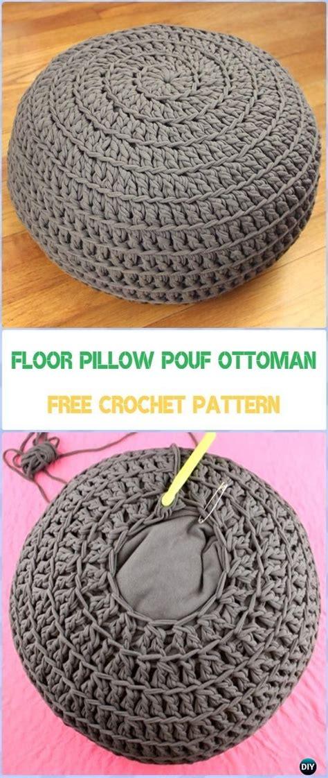 crochet pouf ottoman pattern free best 25 diy ottoman ideas on diy storage pouf