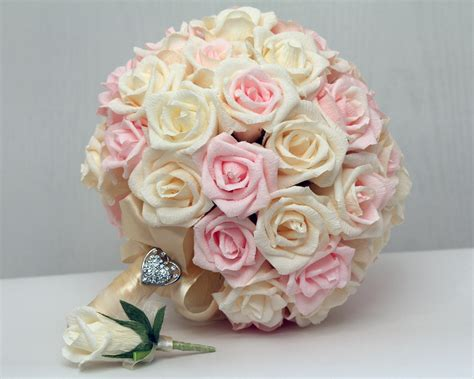 How To Make Paper Flower Bouquet For Wedding - wedding bouquet paper wedding bouquet bridal bouquet