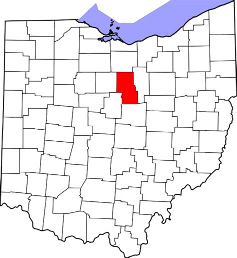 Richland County Property Records File Map Of Ohio Highlighting Richland County Svg