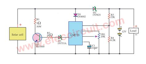 capacitor overcharge protection circuit solar battery charger with overcharge protection electronic projects circuits