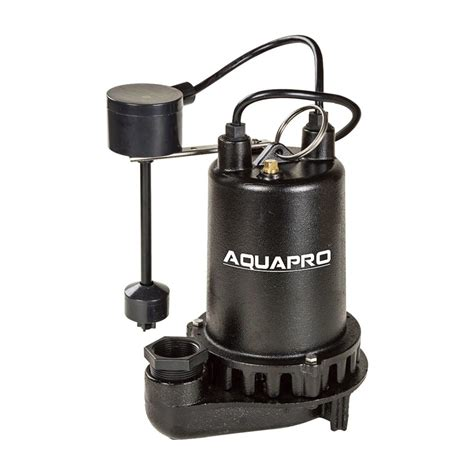 sump pumps wayne 1 3 hp cast iron submersible sump with vertical float switch cdu790 the home depot