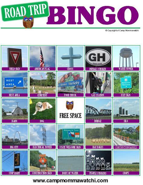 printable road trip bingo cards 7 best images of road trip bingo printable cards road